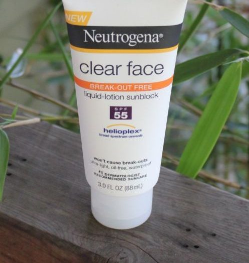 Clear Face Liquid Lotion Sunscreen Broad Spectrum SPF 55