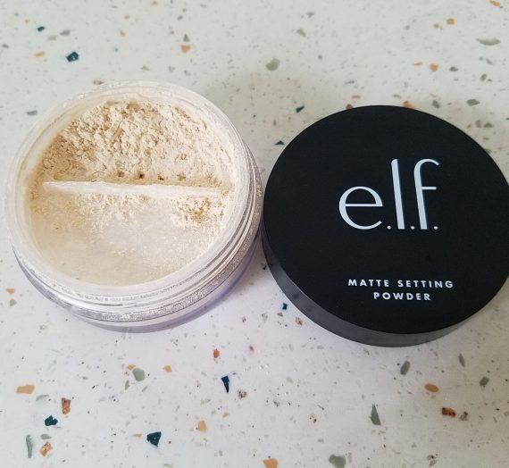 Matte setting powder