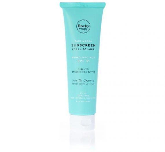 Rocky Mountain Soap Company Natural Sunscreen Vanilla Coconut SPF 31
