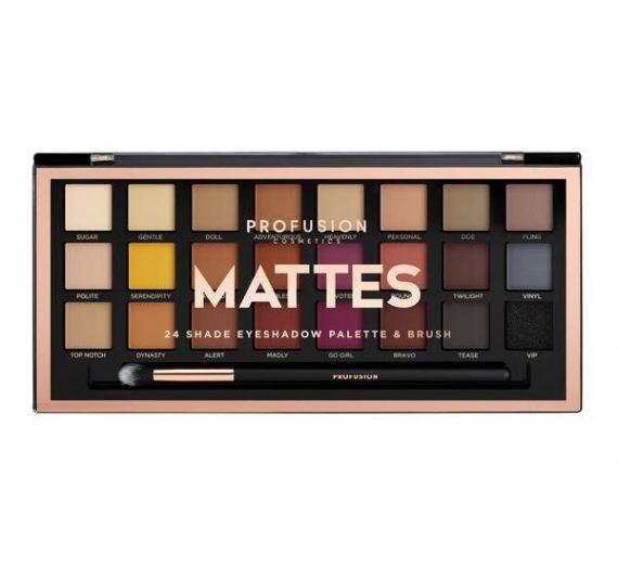 MATTES 24-Shade Eyeshadow Palette & Brush
