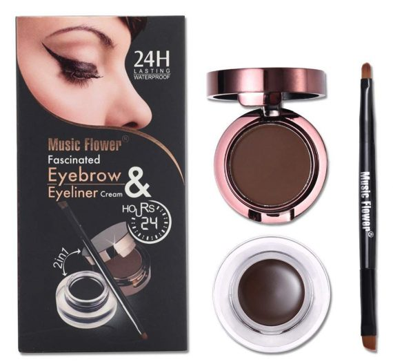 Music Flower Cosmetics-Fascinated Eyebrow & Eyeliner Cream