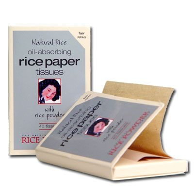 Oil-Absorbing Rice Paper Tissues with Rice Powder