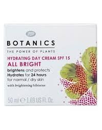Botanics Hydrating Day Cream All Bright SPF 15
