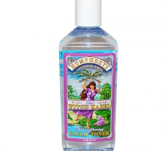 Humphreys lilac witch hazel skin softening facial toner