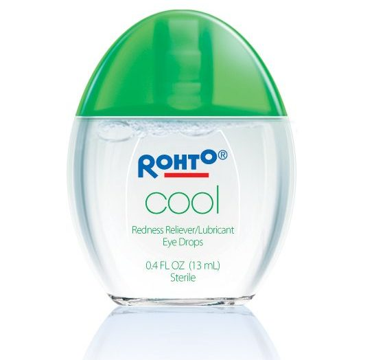 """Rohto- """"Cool"""" Redness Reliever/Lubricant Eye Drops"""