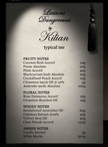 Liaisons Dangereuses perfume