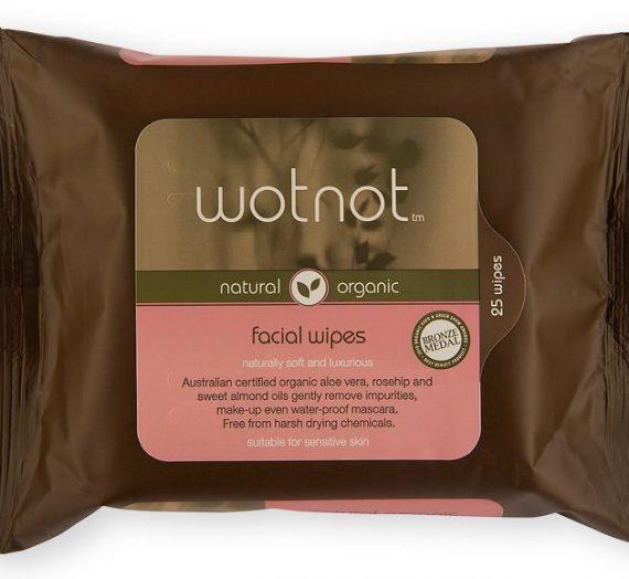 wotnot natural organic facial wipes sensitive skin