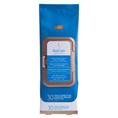 Dead Sea Elements Wet Cleansing & Makeup Remover Towelettes