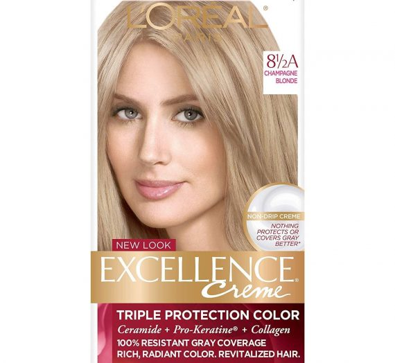 Creme Permanent Hair Color Excellence – Champagne Blonde 8.5 A