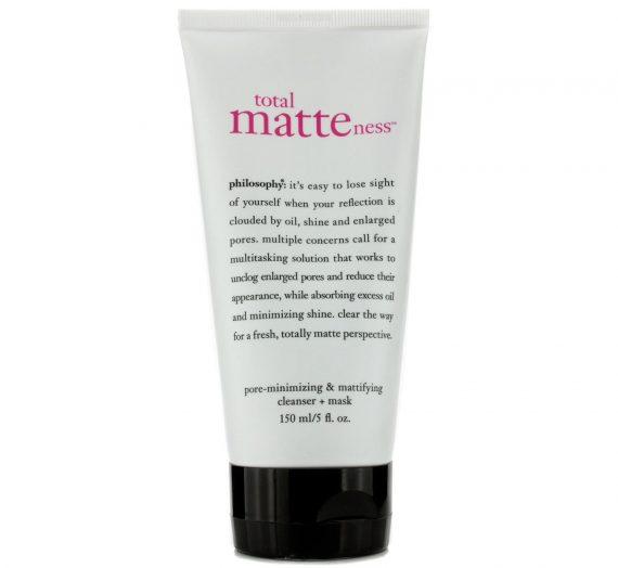 total matteness  pore-minimizing & mattifying cleanser + mask