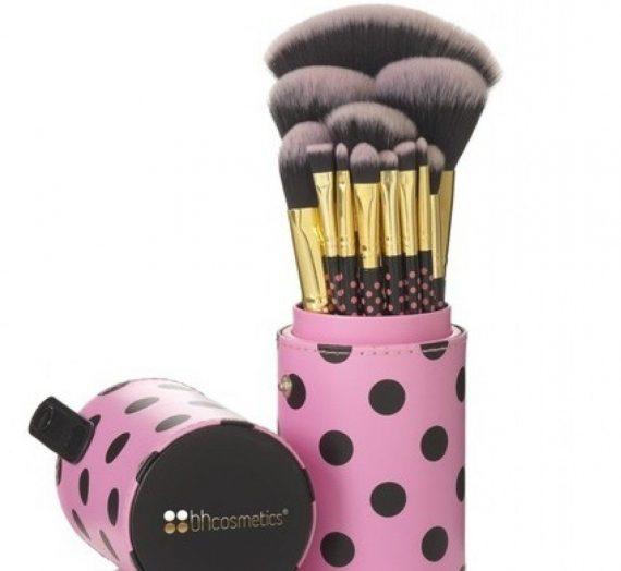 11 Pieces Pink A Dot Brush Set
