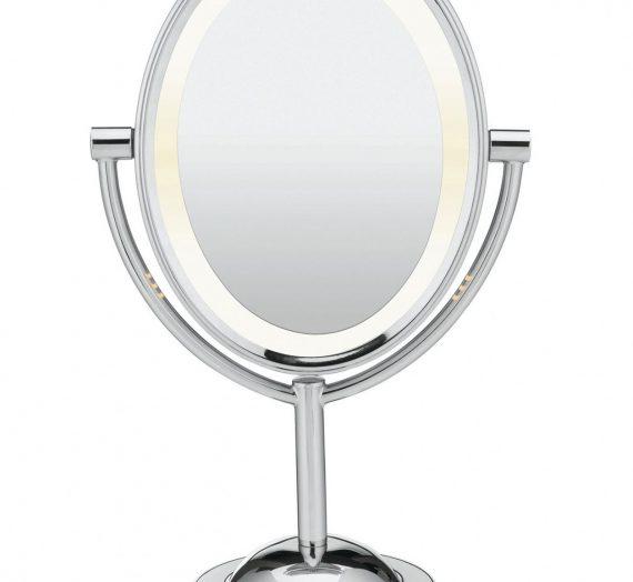 Oval Polished Chrome Makeup Mirror