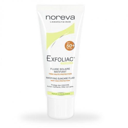 Noreva Exfoliac Matifying sun care fluid spf 50