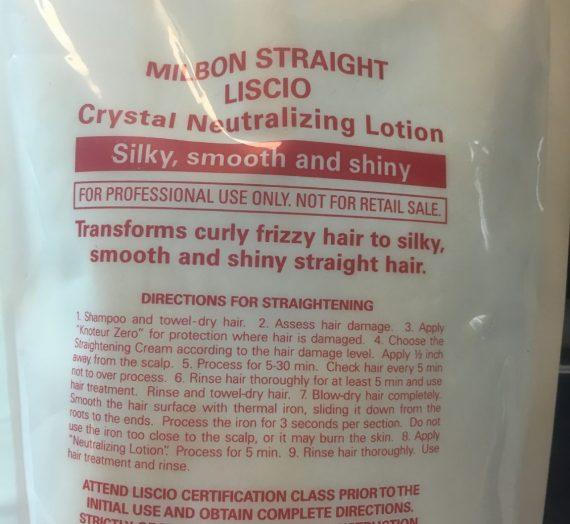Milbon Liscio Mild Permanent Straightener